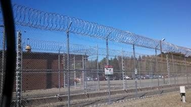 Electrified fence around Pelican Bay State Prison by Katie Orr, Capital Public Radio