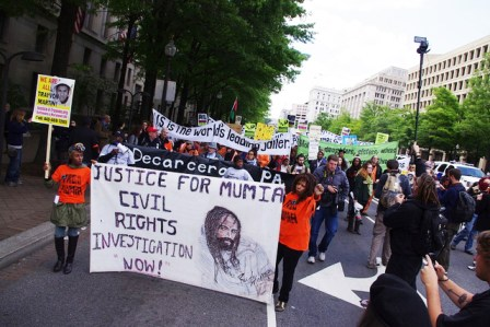 Occupy Justice Dept march for Mumia, Trayvon 042412