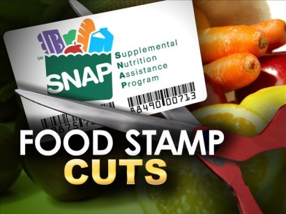 'Food stamp cuts' graphic