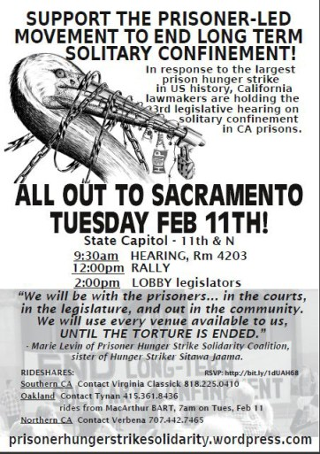Solitary confinement hearing flier 0214