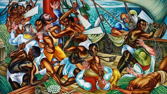 'Mutiny on the Amistad' by Hale Woodruff cy Talladega College, Alabama