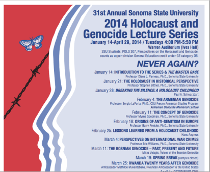Rwandan Ambassador Mathilde Mukantabana, Sonoma State Holocaust and Genocide Lecture Series 2014