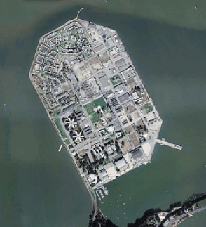 Treasure Island satellite image
