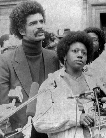 Chokwe Lumumba, Fulani Sunni Ali, later acquitted 1981 Brinks truck robbery by Richard Drew, AP