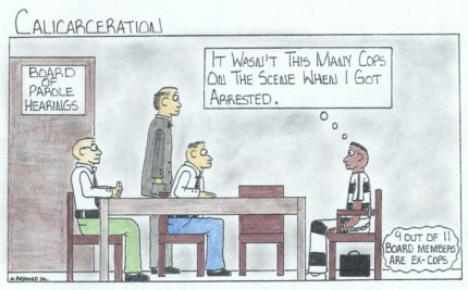 'Cops on Parole Board' art by Marcus Bedford Jr.