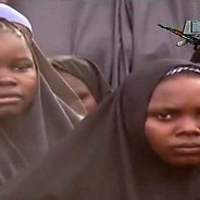 Girls abducted by Boko Haram on April 14 recite Muslim prayers in a video released May 12.