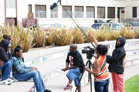 "Filming ""I Just Wanna Ball"" at McClymonds High School"