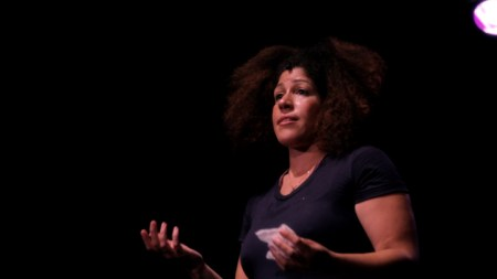 Rain Pryor onstage