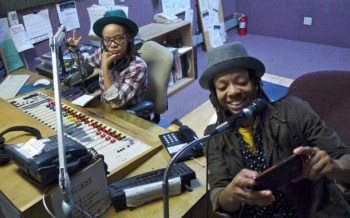 Melorra and Melanie Green broadcast from KPOO every Tuesday, 8-10 p.m. – Photo: Mark Plummer