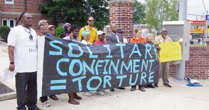 Protests against solitary in Pennsylvania, like this one on Aug. 2, 2010, helped inspire the California hunger strikes against solitary.