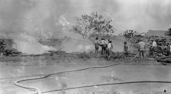 Blacks valiantly fought the fires that terrible day, June 1, 1921, to no avail. – Photo: Tulsa Historical Society