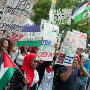 Protests in the U.S. have been growing weekly. Thousands joined the National March on the White House to Stop the Massacre in Gaza on Saturday, Aug. 2. – Photo: Ford Fischer