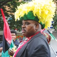 Ron Bobb-Semple brings the Hon. Marcus Garvey back to life. – Photo: Wanda Sabir