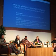 Panelists Microsoft General Manager for Global Diversity and Inclusion Gwen Houston, Cisco Chief Collaboration and Inclusion Officer Shari Slate, Google Director of Global Diversity and Inclusion Yolanda Mangolini, Pandora Diversity Program Manager Lisa Lee and Intel Vice President and Chief Diversity Officer Rosalind Hudnell were phenomenal as they talked about these companies' efforts to be more inclusive. – Photo: Kia Croom