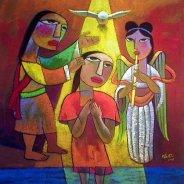 """The Baptism of Jesus"" – Art: He Qi"