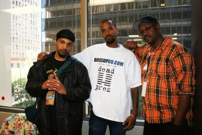 DJ X1, Stic.man and Davey D in 2007 – Photo: JR Valrey, Block Report
