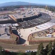 The new $5 billion Apple campus under construction is providing jobs to thousands of construction workers.