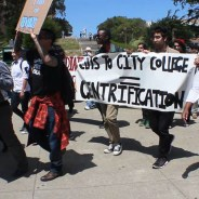 In the May 6, 2015, Walkout to Save City College, 200 students walked out of classes for a march, rally and flash occupation of the administration building.