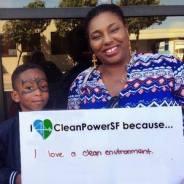 'I love CleanPowerSF' Black mom & son