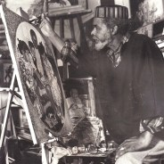 Eugene White, the artist at work