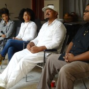 At last November's Maafa Film Festival, Elilta Tewelde, Eliciana Nascimento and Kele Ntoto listen to fellow panelist Adimu Madyun, who is an award-winning filmmaker. – Photo: Wanda Sabir