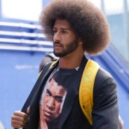 Colin Kaepernick arrived at the Bills game in Buffalo, where he was starting quarterback for the 49ers, wearing a Muhammad Ali T-shirt.