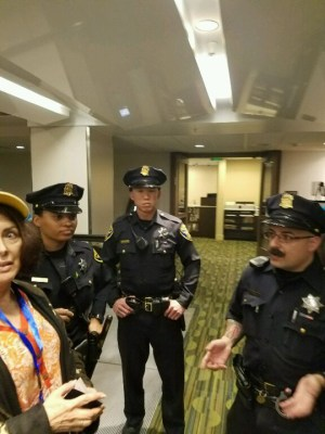 Three SFPD officers were summoned to help eject Ann and Jeremy.