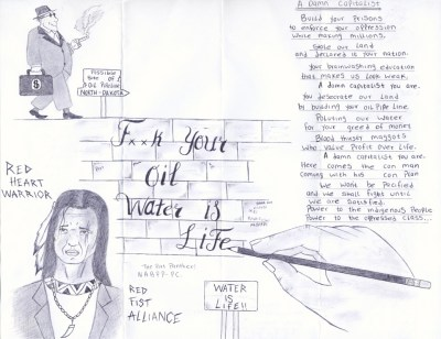 """Water Is Life"" – Art: Peter Kamau Mukuria, 1197165, Red Onion State Prison, P.O. Box 1900, Pound VA 24279"