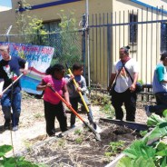 Children learn to grow their own food at Homefulness Revolutionary Youth Summer Camp. – Photo: PNN