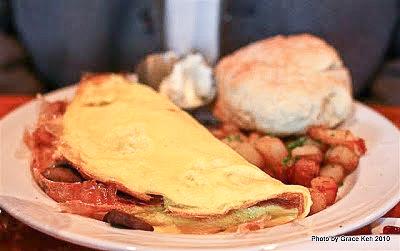 Folded Omelette w/ Bacon