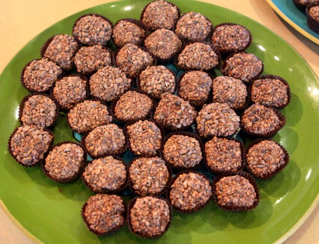 Delectable Brazilian chocolate truffle treats by Kika's Treats — http://www.kikastreats.com