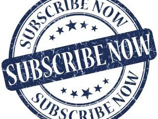 subscribe now grunge round blue stamp