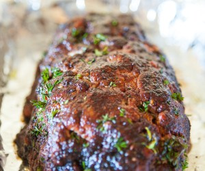 Bacon-wrapped meatloaf recipe
