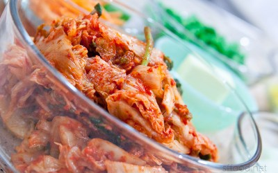 Nicely fermented kimchi