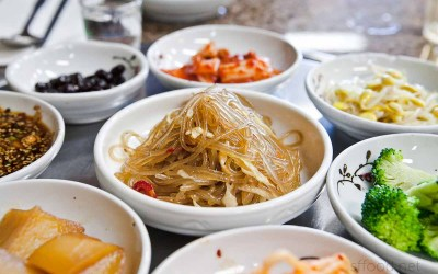 Japchae was as plain as could be
