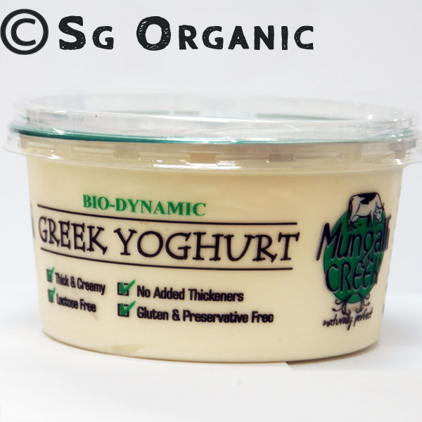 SG Organic Natural Greek Yoghurt - 375g