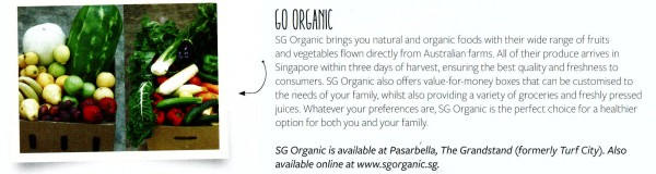 SG Organic online business