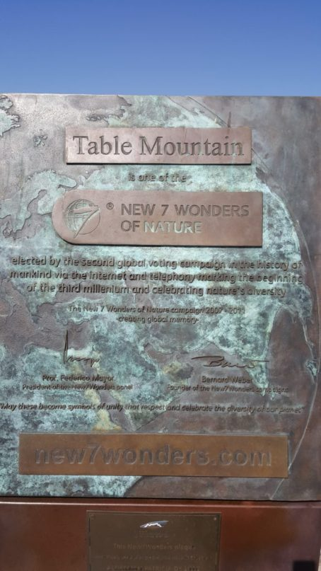 The Table mountain is one of the new 7 wonders of nature