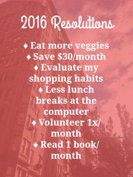 2016 Resolutions | Shades of Sarah