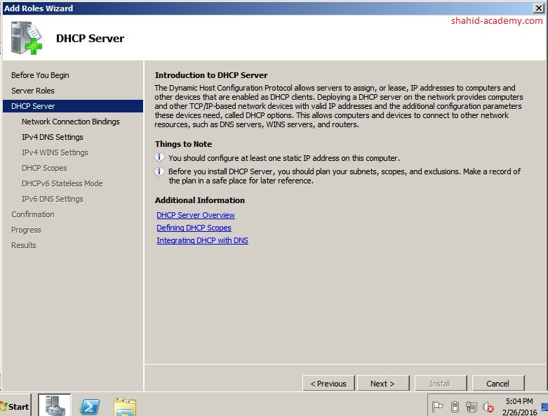 DHCP Server Role2