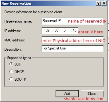 Reserved IP Special use
