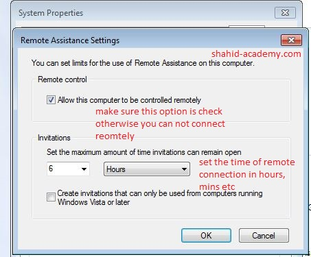 advanced setting of remote timming