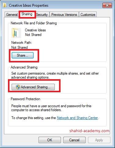 sharing tab