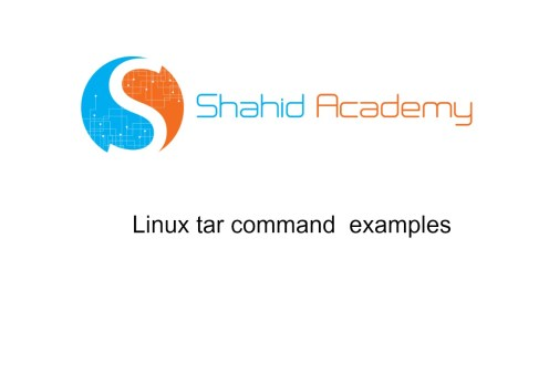 Linux-tar-examples