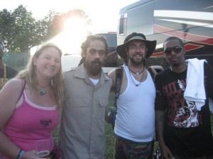 Shawna Newbern, Damian Marley, Myself and NAS backstage after their Rothbury set