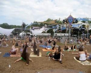 Morning Yoga at Rothbury