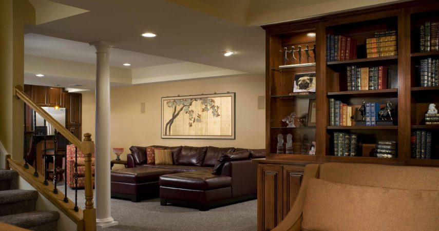 Basement Remodel - Library