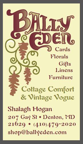 Bally Eden business card