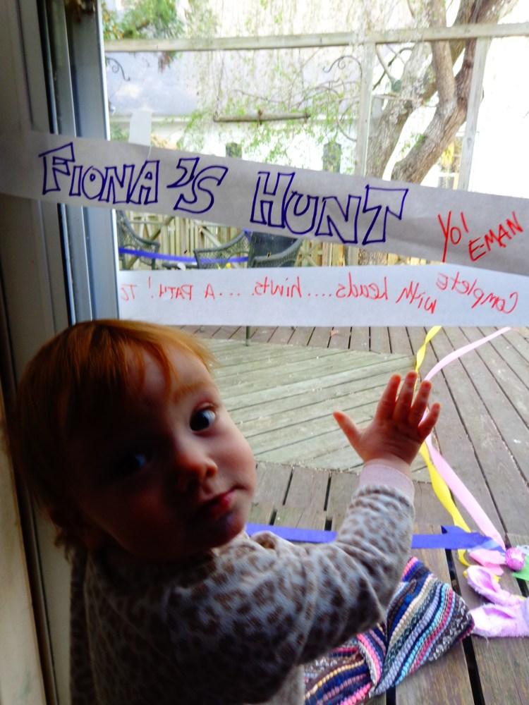 Fiona's special egg hunt.