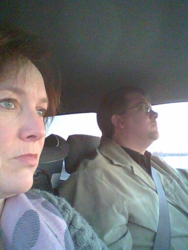 Mark and I driving over the bridge on Shalavee.com